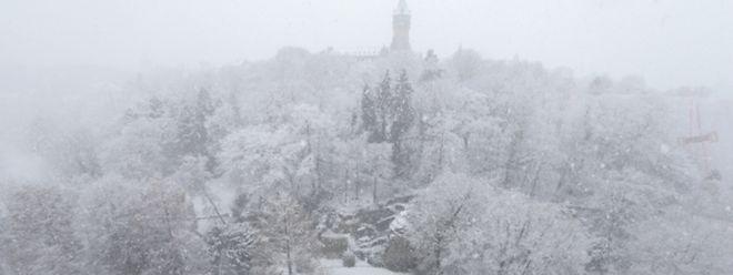 Neige à Luxembourg ville - Photo : Pierre Matge