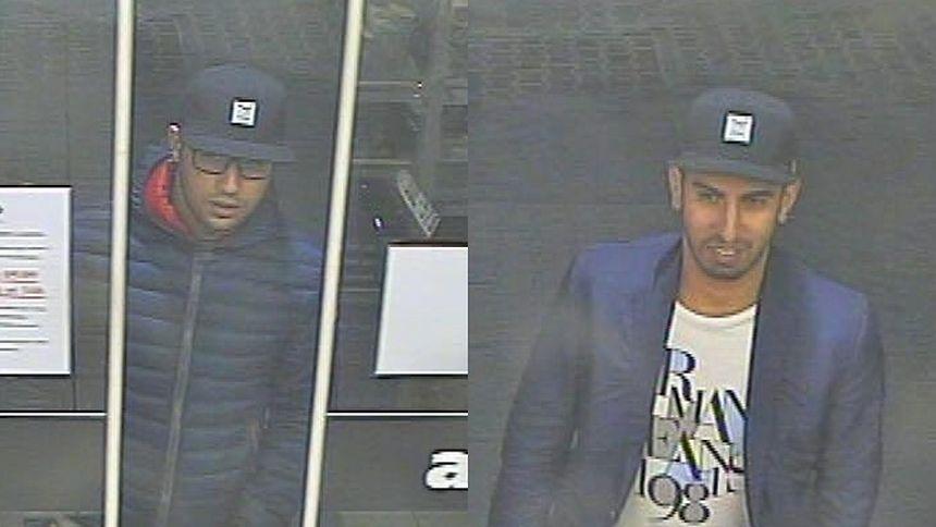 Diese beiden Männer haben laut Polizei mit der gestohlenen Bankkarte Einkäufe auf einer Tankstelle in Windhof bezahlt.