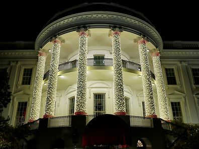 Das Weiße Haus in Washington in Weihnachtsdeko.