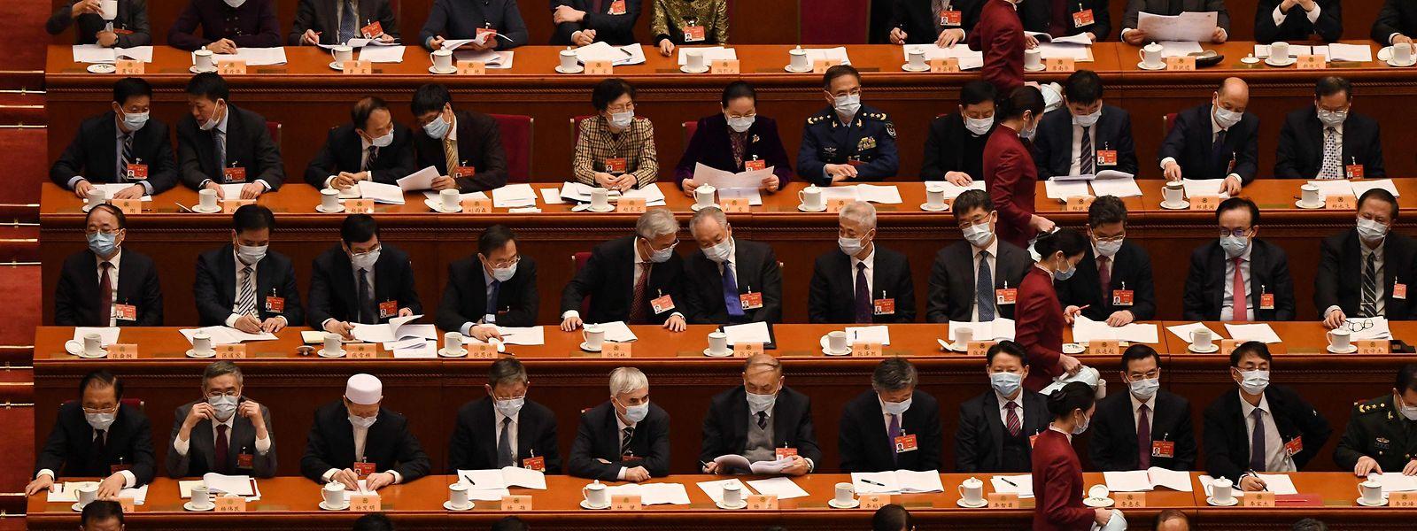 Der Volkskongress tagt in Peking -trotz Corona.