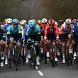 The pack rides during the 138,5km 1st stage of the 77th Paris-Nice cycling race between Saint-Germain-en-Laye and Saint-Germain-en-Laye in Saint-Germain-en-Laye on March 10, 2019. (Photo by Anne-Christine POUJOULAT / AFP)