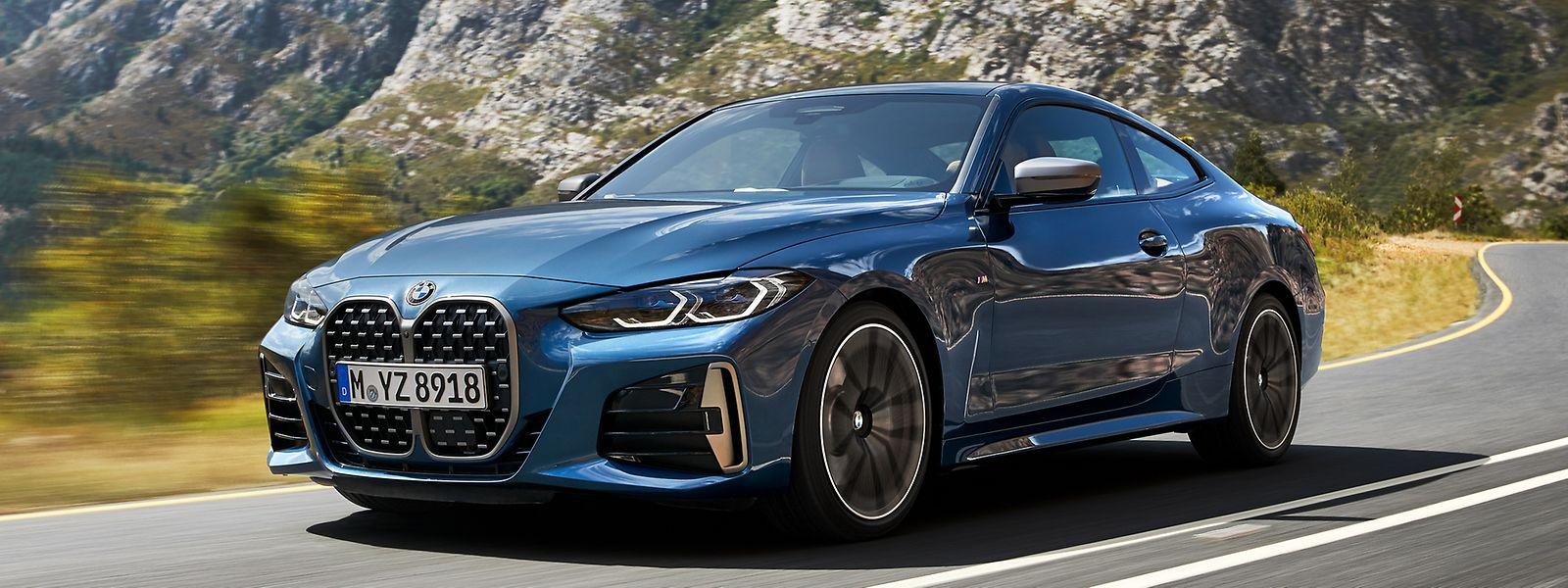 Das neue 4er Coupé ist auf Anhieb am riesigen Kühlergrill im BMW-typischen Nierendesign zu erkennen.