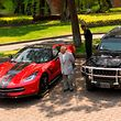 View of seized luxury cars that will be auctioned taken at Los Pinos former presidential residence in Mexico City, on May 21, 2019. - Mexico announced Tuesday it will auction off scores of luxury cars seized by police, as its austerity-crusading president seeks to send a message in a country where powerful criminals often wield their bling with impunity. President Andres Manuel Lopez Obrador said the proceeds from the sale of the 82 cars -- which include a Lamborghini Murcielago, three Porsches and dozens of armored trucks -- would be invested in poor communities. (Photo by Pedro PARDO / AFP)