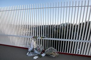 17.3. Roud Breck / neues Geländer / Suizid / Selbstmord / Pont Rouge Foto:Guy Jallay