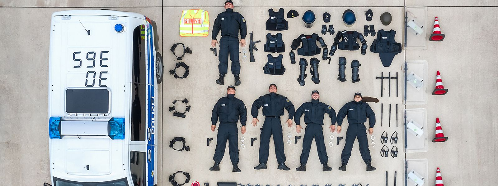 Aufgeräumt: Die deutsche Bundespolizei im niedersächsischen Duderstadt.