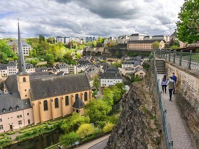 "The ""Chemin de la Corniche"" around Luxembourg City"