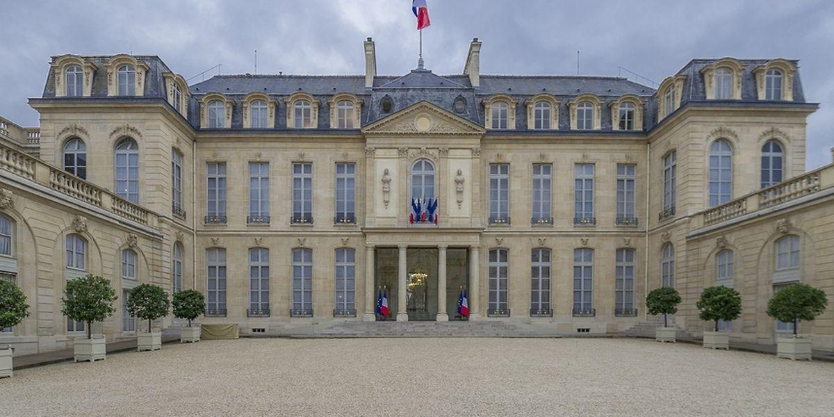 La cour du palais de l'Elysée.