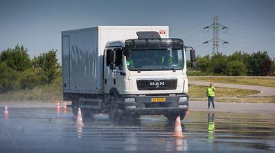 """Neue Strecke im """"Centre de formation"""" für Lastwagen- und Busfahrer in Sassenheim ,Foto Lex Kleren"""