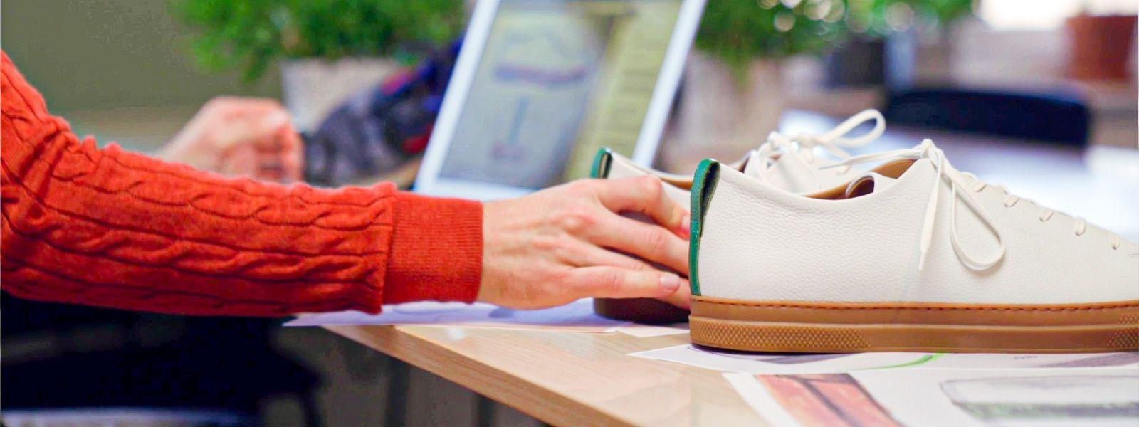 """Ohne Plastik und """"zirkulär"""": Das Luxemburger Start-up Our Choice will den ökologischen Fußabdruck von Sneakern verringern."""