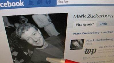 Das Profilfoto von Facebook-Gründer Mark Zuckerberg auf seiner Facebook-Seite.