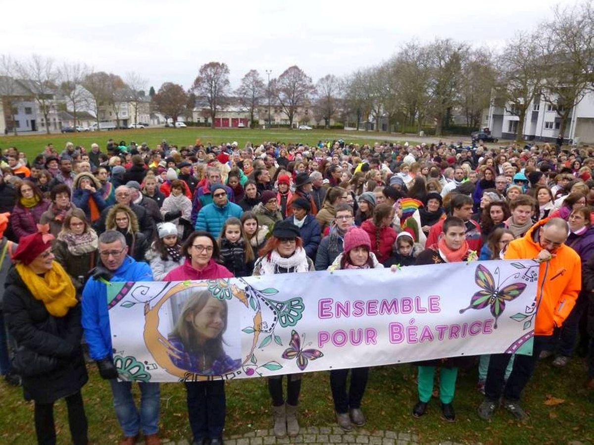 En novembre dernier, à Arlon, une marche pour Béatrice, organisée à l'initiative de sa maman, avait rassemblé des milliers de personnes.