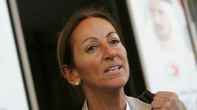 Cette photo d'archives datée du 12 décembre 2007 montre la journaliste française à Dubaï.