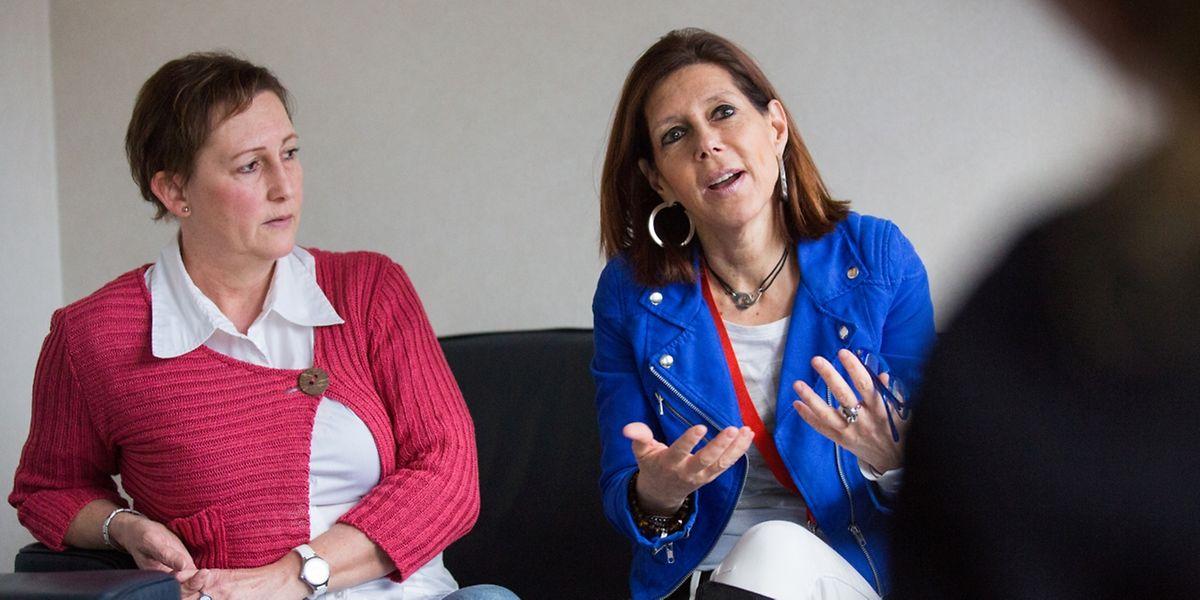 """Ein Einsatz aus tiefstem Herzen: """"Alles, was wir im Einsatz geben, kommt von uns selbst"""", sagen Francine Lang (links) und Isabelle Decker. Die Ehrenamtlichen müssen jedoch aufpassen, dass sie sich nicht mit der jeweiligen Notsituation identifizieren: """"Wir fühlen mit, aber wir dürfen nicht mitleiden. Sonst kann man diese Arbeit nicht machen."""""""