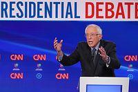 Democratic presidential hopeful Vermont Senator Bernie Sanders participates in the 11th Democratic Party 2020 presidential debate in a CNN Washington Bureau studio in Washington, DC on March 15, 2020. (Photo by MANDEL NGAN / AFP)