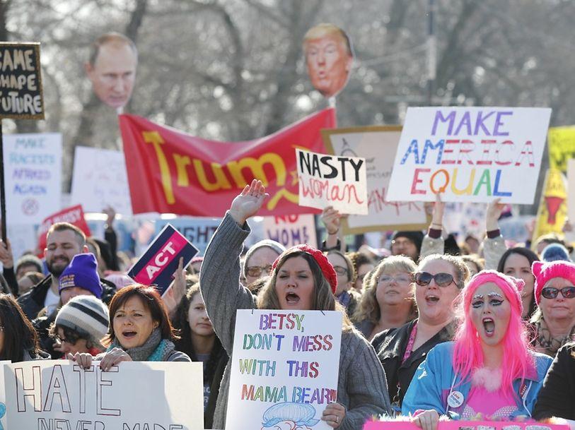 A Marcha das Mulheres em Washington