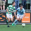 08 Fussball BGL Ligue Spielzeit 2018-19 zwischen der US Hostert und dem Racing FC Union Luxemburg am 17.08.2018 Denis STUMPF (11 Hostert) vor Florik SHALA (97 RFCUL)