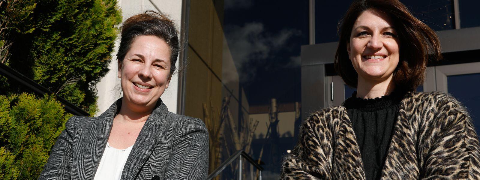 """Engagiert, um eines der zentralen Projekte des Kulturentwicklungsplans ins Laufen zu bringen: Valérie Quilez (l.) und Diane Tobes teilen sich die Geschäftsführung des """"Arts Councils"""", Kultur:LX."""