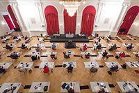 Politik, Ankündigungen von Bettel bezüglich Corona, Covid-19, Chambre, Cercle cité, Foto: Lex Kleren/ Luxemburger Wort