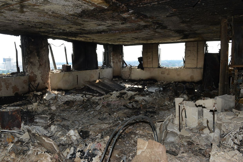 Dieses Foto aus einer Wohnung im Grenfell Tower veröffentlichte die Londoner Polizei am Montag.