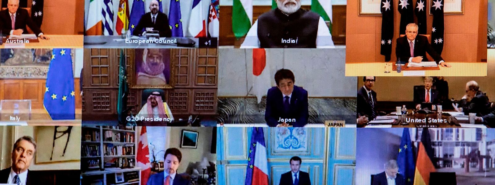Les dirigeants du G20 étaient réunis jeudi en sommet par visioconférence