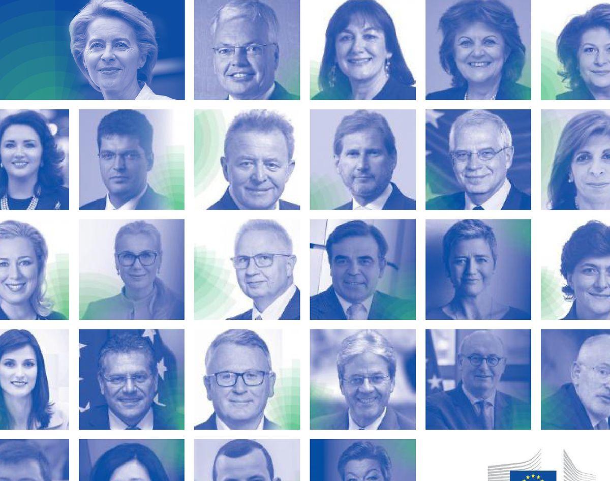 Les nouveaux visages de la Commission von der Leyen.