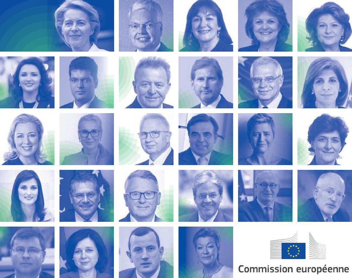 Die neuen EU-Kommissionsmitglieder.