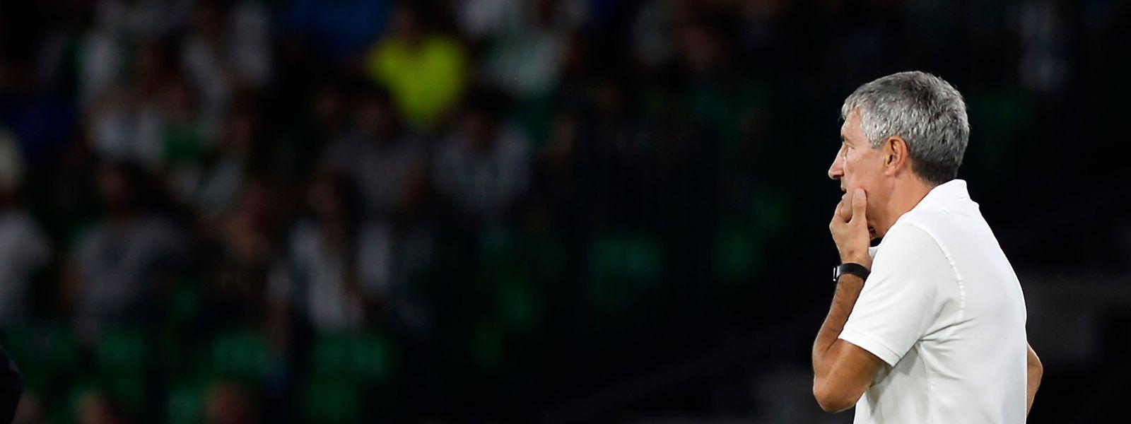 Betis-Coach Quique Setien trifft am Donnerstag in Sevilla auf F91.
