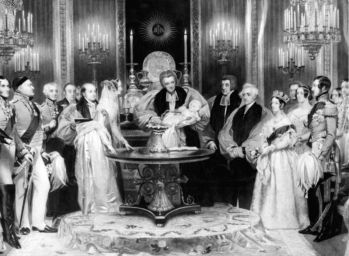 Gravura do batizado da princesa Victoria em 1841