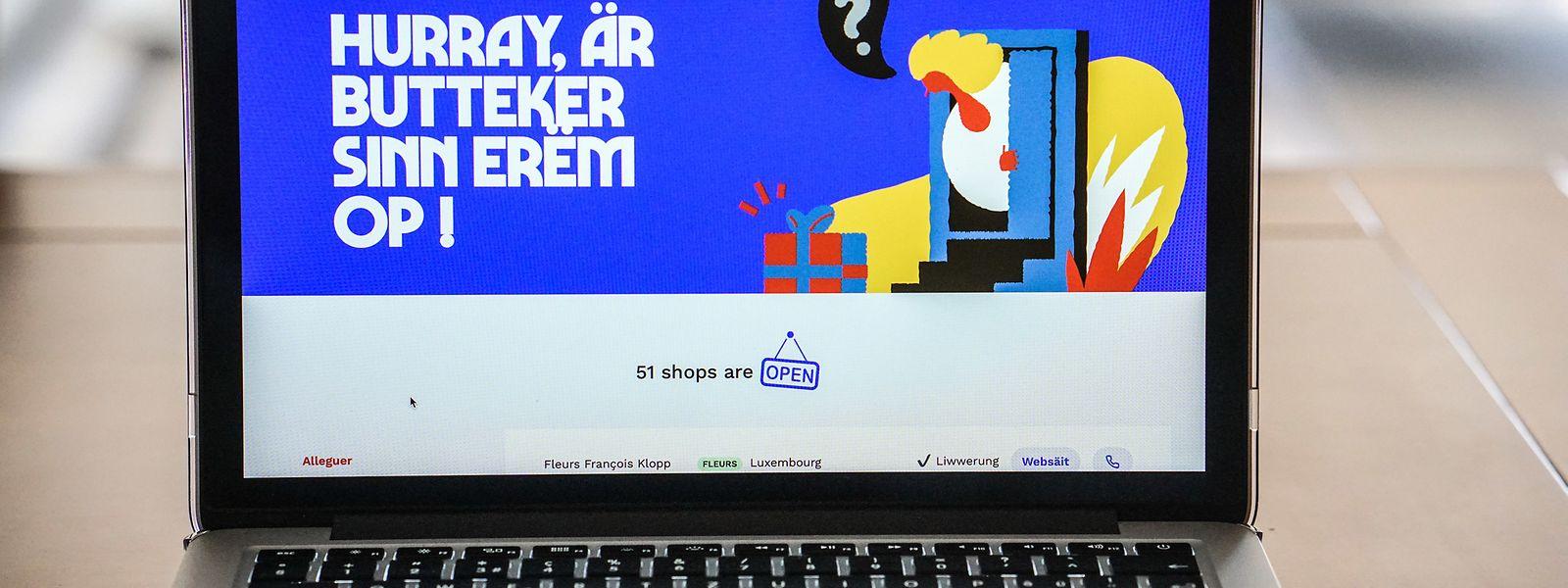 """Hereinspaziert: Wer lokal einkaufen will, wird im Internet auf """"nala.lu"""" fündig."""