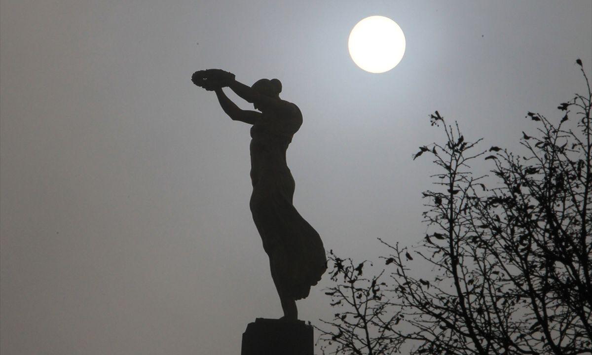 Gelle Fra statue in the moonlight Photo: Anouk Antony