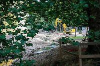 Lokales,Visite chantier ,Renaturation de la Petrusse. Foto: Gerry Huberty/Luxemburger Wort