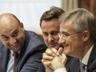 Die Koalitionäre: Etienne Schneider (LSAP), Xavier Bettel (DP) und Felix Braz (Déi Gréng).