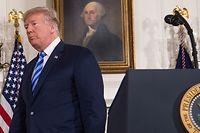 Trump kündigte an, seine Regierung werde schon bald zusätzliche Sanktionen verhängen. Das Abkommen sollte es dem Iran unmöglich machen, Atomwaffen zu entwickeln.