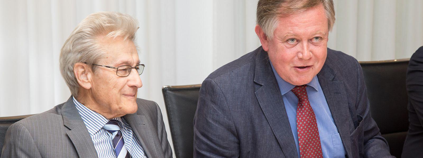 Die beiden Verfassungsexperten Paul-Henri Meyers (links) und Alex Bodry wollen nicht, dass der SREL politische Parteien überwacht.