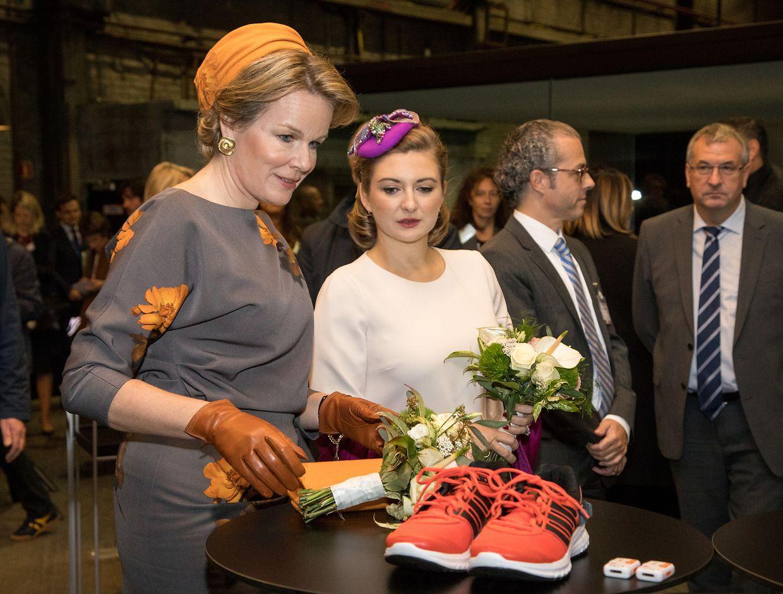 Königin Mathilde und Erbgroßherzogin Stéphanie besuchen den Universitätscampus Belval.