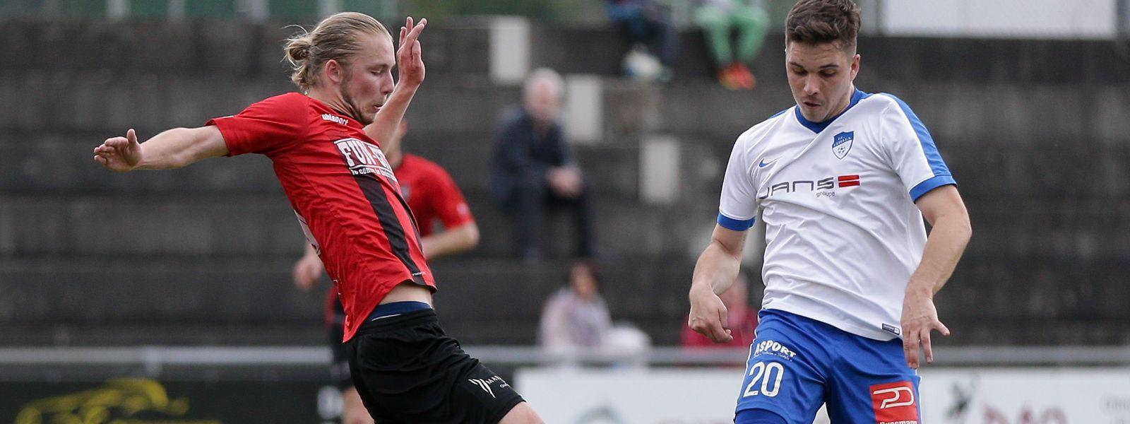 Jeff Bertemes (à g.) est de retour au FC Mondercange