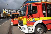 Lok , PK CGDIS , Rettungsdienste 112, Feuerwehr , Berufsfeuerwehr Luxemburg , rte Arlon , Foto:Guy Jallay/Luxemburger Wort