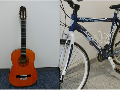 This guitar and bike are among the items