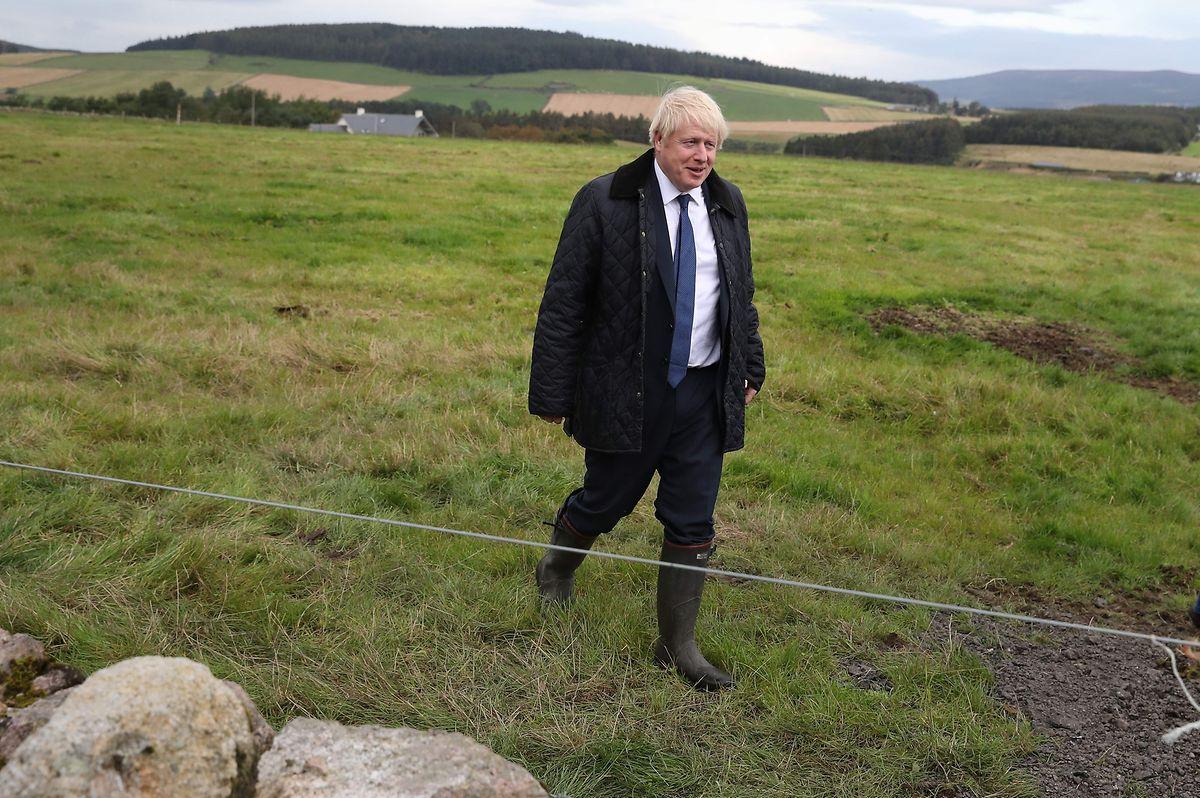 Boris Johnson faisait déjà campagne ce vendredi, près d'Aberdeen en Ecosse