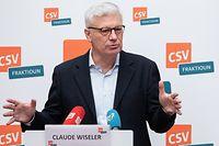 Politik, Pressekonferenz CSV mit Martine Hansen und Claude Wiseler. Foto: Chris Karaba/Luxemburger Wort