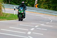 Lokales, Motorradstrecke Wiltz Kautebach. Speziell für Motorräder angebrachte Markierungen. Motorrad, Moto,  Photo: Guy Wolff/Luxemburger Wort