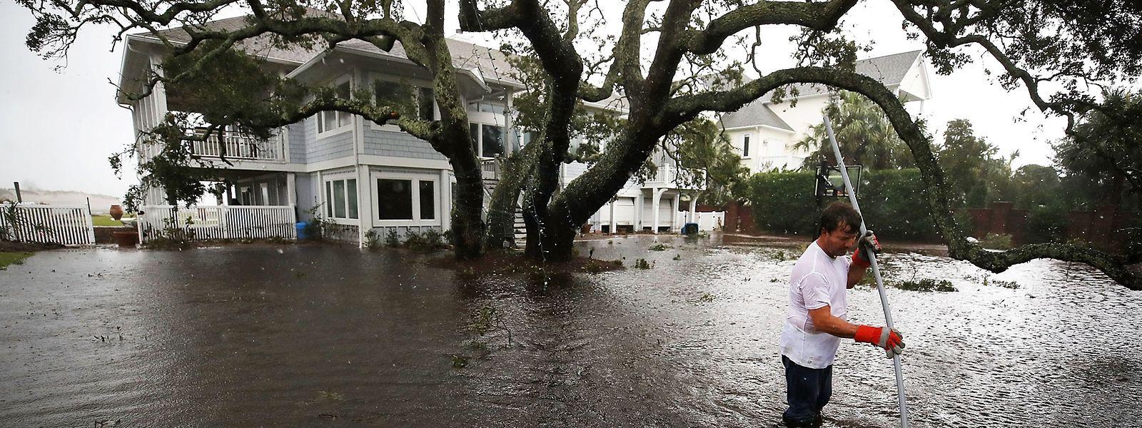 Gärten, hier in Wilmington (North Carolina), wurden komplett überschwemmt.