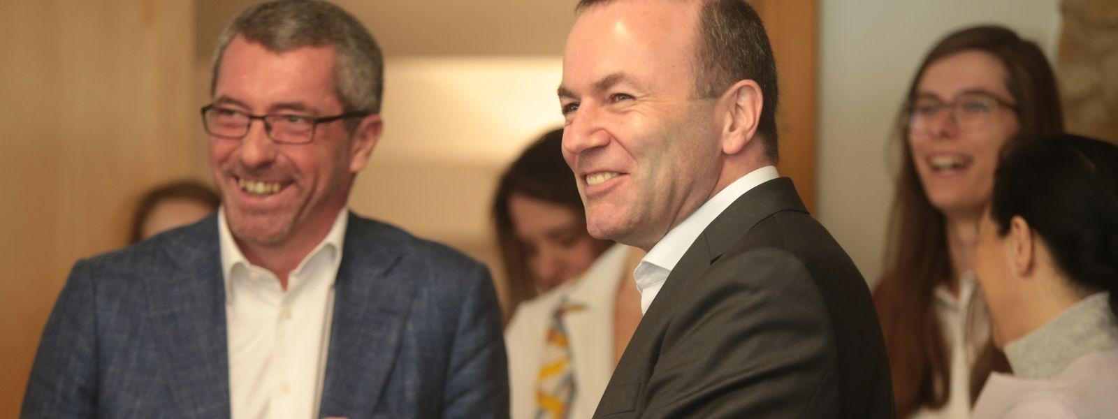 Orientierungslos in die Zukunft: CSV-Chef Frank Engel und EVP-Spitzenkandidat Manfred Weber.