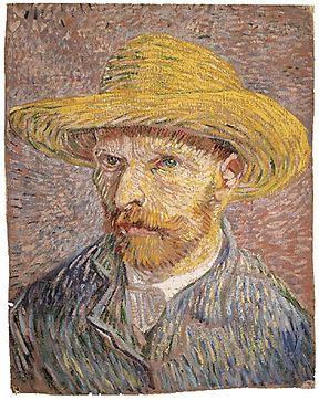"""Van Goghs """"Selbstportät mit Strohhut"""" ist nur in kleinerer Auflösung als Foto downloadbar."""