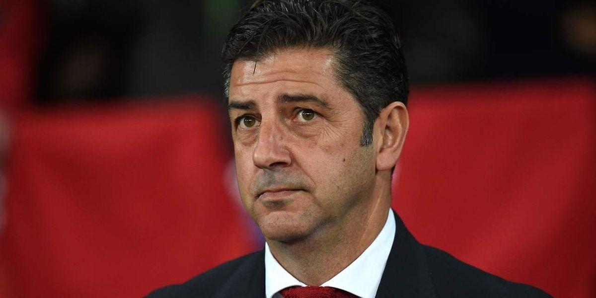 O treinador do Benfica, Rui Vitória.