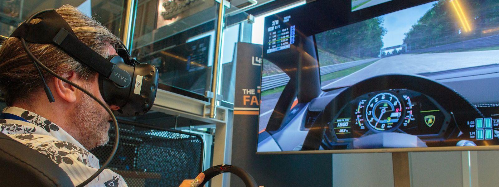 Dank virtueller Realität im Cockpit eines Lamborghinis. Das ist im Differdinger Science Center möglich.