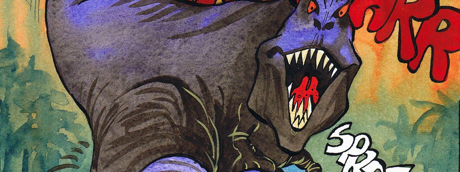 Que va-t-il arriver à Superjhemp aux confins de Jurassic Parc?