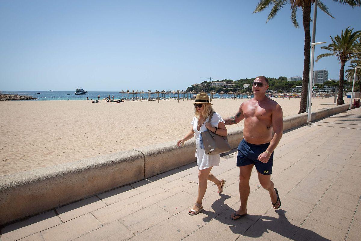 L'Espagne reste pour l'essentiel accessible aux touristes belges, comme ici les plages de l'île de Majorque