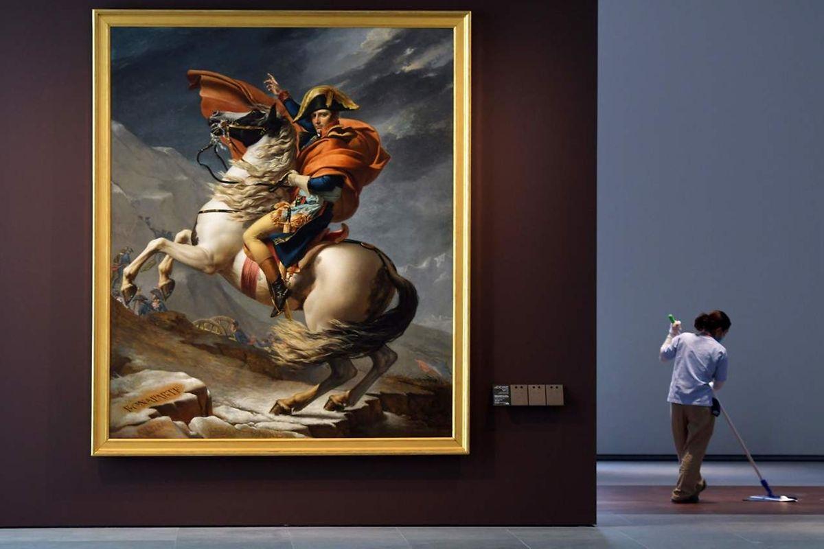 """""""Bonaparte franchissant le Grand-Saint-Bernard"""" de Jacques-Louis David"""