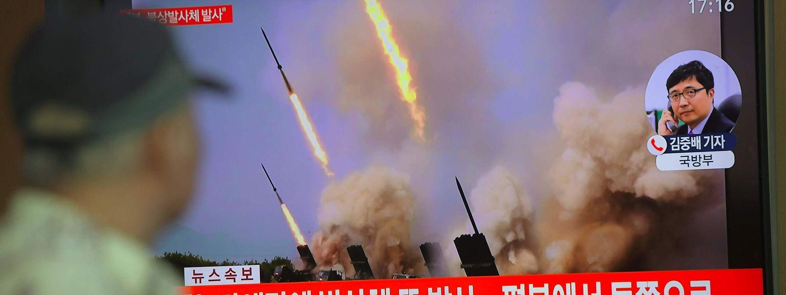 Bilder der Rakentests im offiziellen Nachrichtenkanal Nordkoreas.